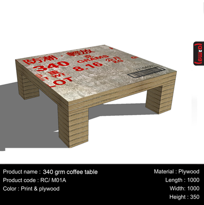 (a2mg) 340 gum coffee table - Gurify