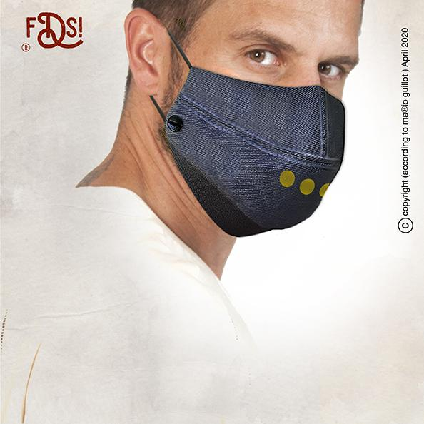 Adams family Armour denim face mask - Pack no 12 (Includes 3 Masks)