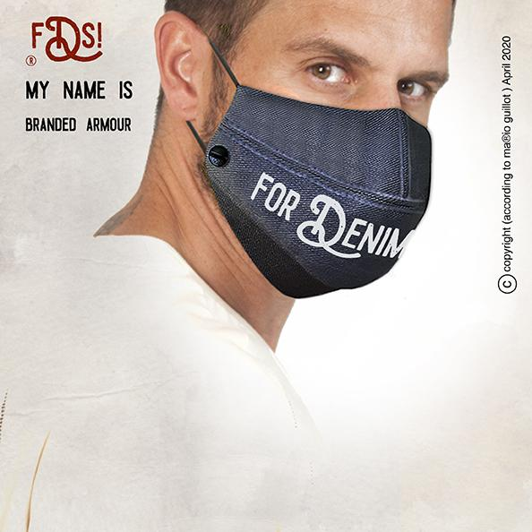 Branded Armour denim face mask