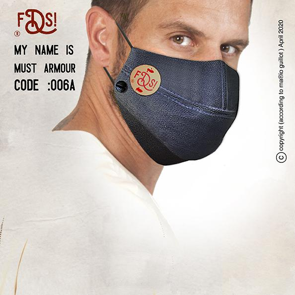 Must Armour denim face mask 006A