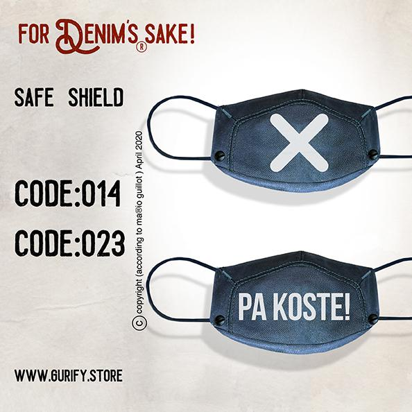 Safe Shield denim face mask (Includes 2 Masks)