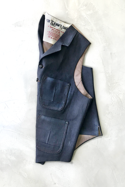 Gabin Denim Vest-MADE ON ORDER - Laboratoire Collection - Gurify