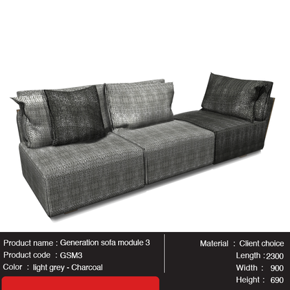 Generation Sofa Module 3 - Gurify