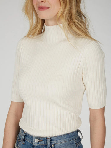 525 America Remi Wide Rib Mock Neck