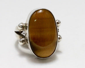 Tiger's Eye Stone Ring