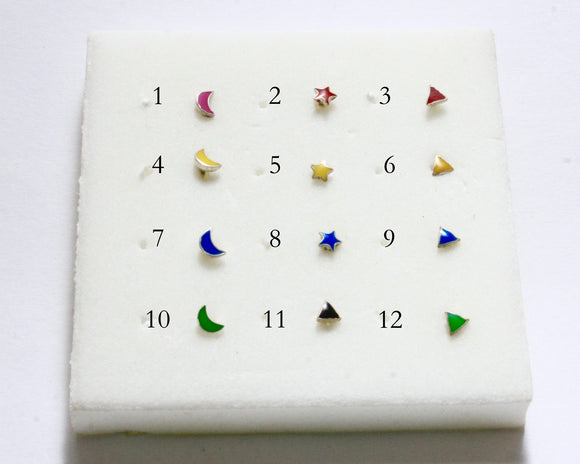 Nose Studs- Shapes and Colors