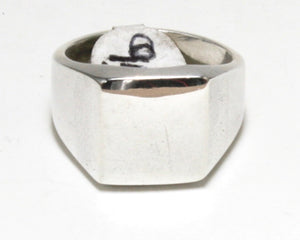 Plain Square Signet Ring