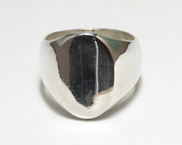 Plain Oval Signet Ring