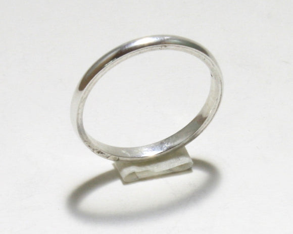 Silver Pinky Ring (Rounded)