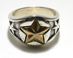 Two-Tone Star Ring