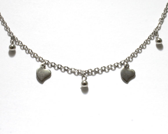 Heart and Ball Anklet