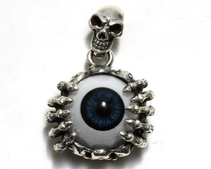 Skeleton Eyeball Pendant