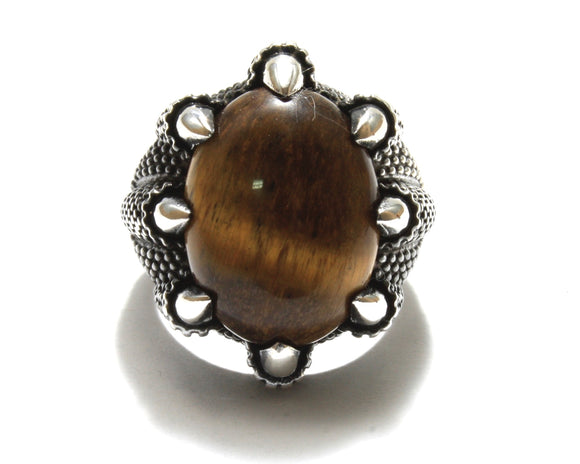 Tiger's Eye Claw Ring