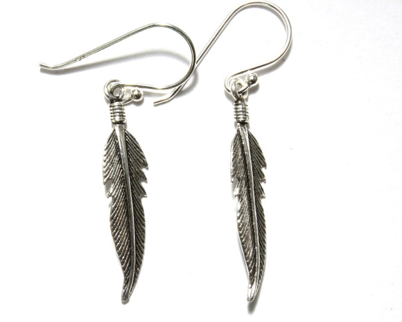 Sleek Feather Earrings