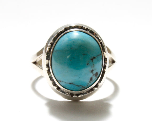 Turquoise Spiral Ring