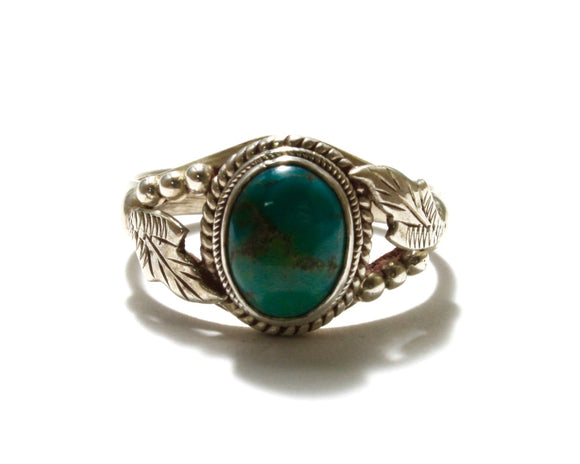 Turquoise Oval Leaf Ring