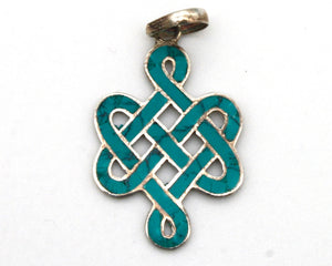 Turquoise Endless Knot Pendant