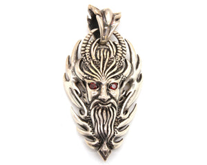 Devil in flames pendant