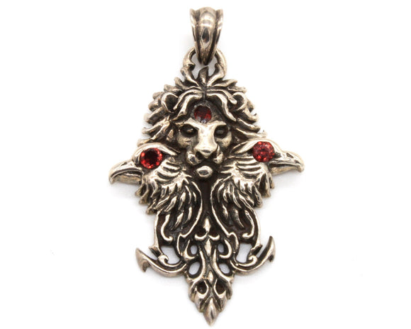 Lion and Crows Pendant