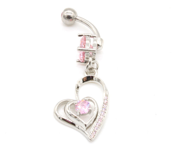Heart Bellybutton Ring