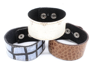 Reptile Printed Leather Cuff