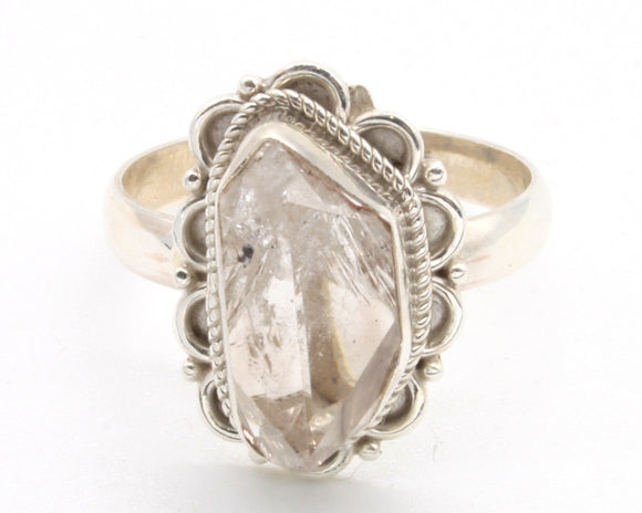 Herkimer Diamond Stone Ring