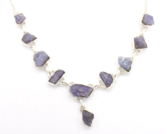 Tanzanite Silver Necklace