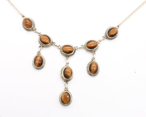 Tiger's Eye Silver Necklace