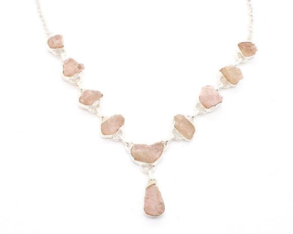 Morganite Stone Necklace