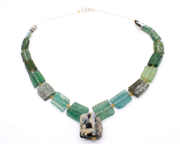 Antique Roman Glass Necklace