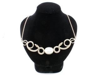 Moonstone Snake Necklace