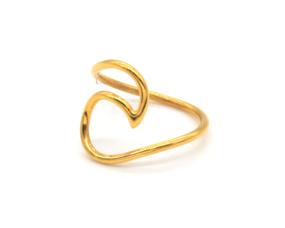 Gold Plated Wave Ring