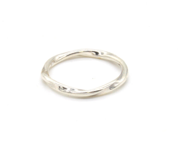 Twisted Silver Pinky Ring