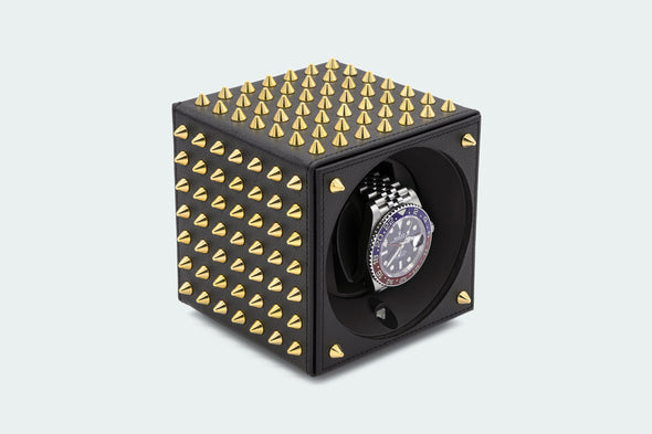 ADATTE DESIGN X SWISS KUBIK SPIKES WATCH WINDER BLACK/GOLD