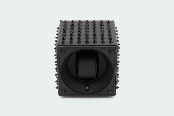 ADATTE DESIGN X SWISS KUBIK SPIKES WATCH WINDER ALL BLACK