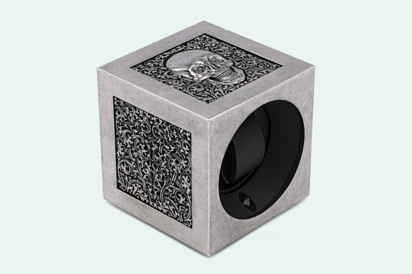 ADATTE DESIGN X SWISS KUBIK SKULL WATCH WINDER