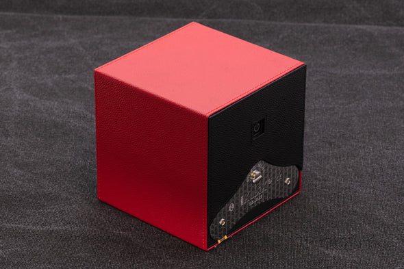 ADATTE DESIGN DUAL TONE LEATHER WATCH WINDER RED/BLACK