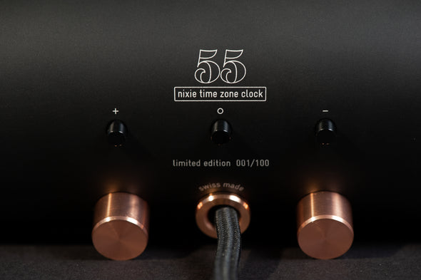 55® NIXIE TIME ZONE CLOCK BY ADATTE DESIGN