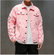 Pink Ripped Jean Jacket®