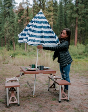 Folding Picnic Table with Umbrella