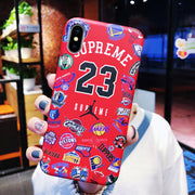 S x NBA iPhone Case