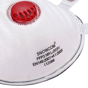 FFP3 Face Dust Mask Valved N99 Cupped - OsirisPPE Personal Protective Equipment