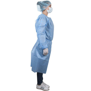 Disposable Non woven Non-sterile Medical Anti-Dust Gowns With Elastic Cuff - OsirisPPE Personal Protective Equipment