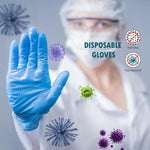 100 Pcs Disposable Gloves Nitrile Latex Sterile Protective Gloves