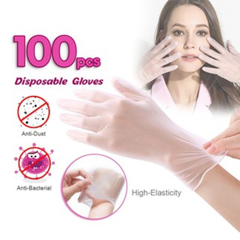 100pcs  Pvc Transparent Disposable Non-Sterile Gloves - OsirisPPE Personal Protective Equipment