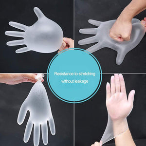 Load image into Gallery viewer, 100pcs  Pvc Transparent Disposable Non-Sterile Gloves - OsirisPPE Personal Protective Equipment