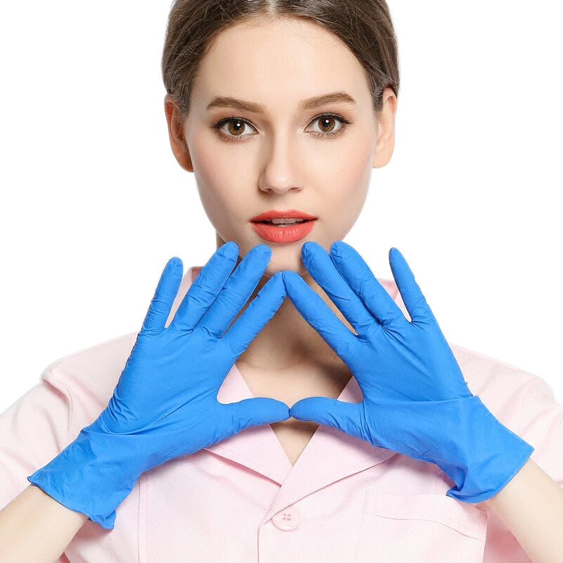 100 Pcs Disposable Nitrile Gloves Latex Sterile Protective