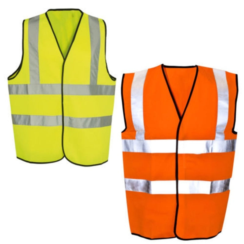 Yellow Or Orange Hi Vis High Visibility Safety Vest - OsirisPPE Personal Protective Equipment