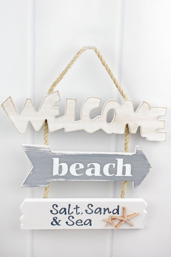 'Beach Welcome' Wood Wall Hanging