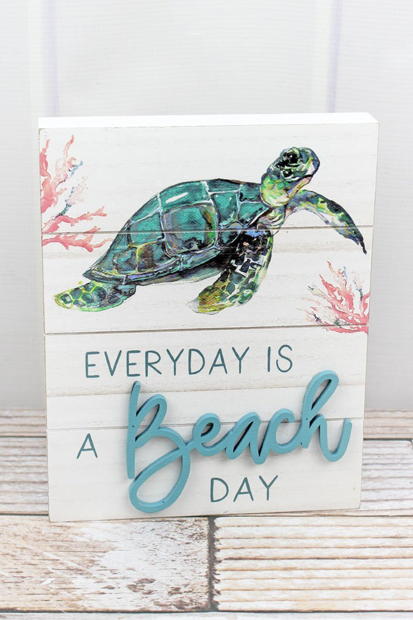 'Everyday Is A Beach Day' Wood Box Sign